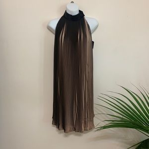 Kendall & Kylie Black and Nude High Neck Dress